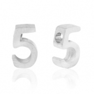 Stainless steel beads number 5 Silver