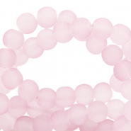 4 mm glass beads matt Light Pink