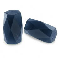 Top faceted beads tube Montana Blue