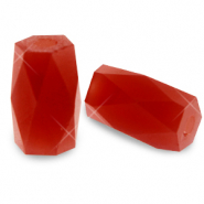 Top faceted beads tube Red Magma Opal