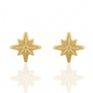 Stainless steel earrings/earpin star Gold
