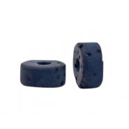Polaris beads disc 4mm Lava Deep Blue