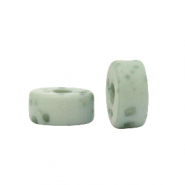 Polaris beads disc 6mm Lava Granite Green