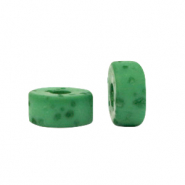 Polaris beads disc 4mm Lava Fir Green