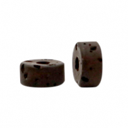 Polaris beads disc 4mm Lava Wild Ginger Brown