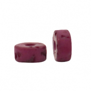 Polaris beads disc 4mm Lava Fuchsia Red