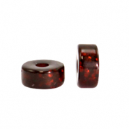 Polaris beads disc 6mm Glitzer Wild Ginger Brown