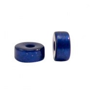 Super Polaris beads disc 4mm Deep Blue
