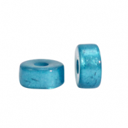 Super Polaris beads disc 4mm Blue Moon