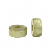 Super Polaris beads disc 4mm Basil Green
