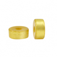Super Polaris beads disc 4mm Olive Oil Yellow