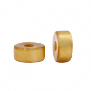 Super Polaris beads disc 6mm Harvest Gold