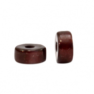 Super Polaris beads disc 6mm Wild Ginger Brown