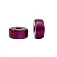Super Polaris beads disc 4mm Gorgeous Grape Purple