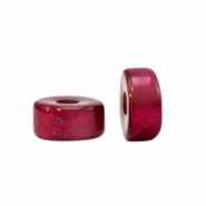 Super Polaris beads disc 4mm Fuchsia Red