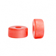 Super Polaris beads disc 4mm Hot Coral Red