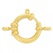 Stainless Steel findings bolt ring clasp 10mm with loops Gold