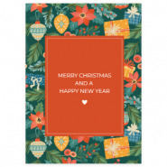 "Jewellery cards ""Merry Christmas"" Multicolour-Red"
