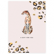 "Jewellery cards ""A gift for you"" Light Beige"