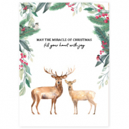 "Jewellery cards ""May the miracle of Christmas"" White"
