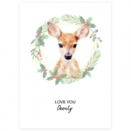 "Jewellery cards ""Love You Deerly"" White"