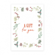 "Jewellery cards ""A gift for you"" White"