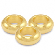 DQ European metal beads 9mm Gold (nickel free)