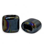 C.U.S jewellery sliders DQ greek ceramic 11x12mm Black