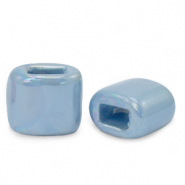 C.U.S jewellery sliders DQ greek ceramic 11x12mm Dusk Blue