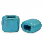 C.U.S jewellery sliders DQ greek ceramic 11x12mm Mosaic Blue