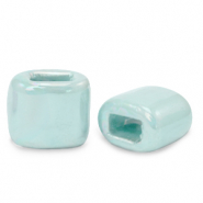C.U.S jewellery sliders DQ greek ceramic 11x12mm Seaside Blue