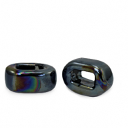 C.U.S jewellery sliders DQ greek ceramic 5x12mm Black