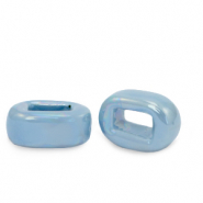 C.U.S jewellery sliders DQ greek ceramic 5x12mm Dusk Blue
