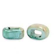 C.U.S jewellery sliders DQ greek ceramic 5x12mm Aqua Haze Green-Almond