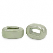 C.U.S jewellery sliders DQ greek ceramic 5x12mm Green Slate