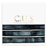 C.U.S jewellery ribbon Dip Dye Black