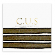 C.U.S jewellery ribbon Shimmery Black