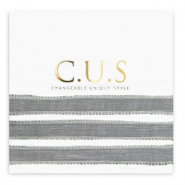C.U.S jewellery ribbon Shimmery Grey