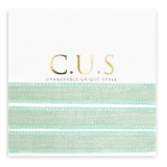 C.U.S jewellery ribbon Shimmery Ash Green