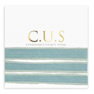 C.U.S jewellery ribbon Shimmery Mosaic Blue