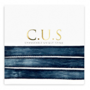 C.U.S jewellery ribbon Dip Dye Midnight Blue