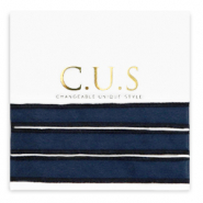 C.U.S jewellery ribbon Shiny Intense Dark Blue