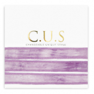 C.U.S jewellery ribbon Dip Dye Heather Purple