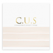 C.U.S jewellery ribbon Shimmery Light Seashell Pink