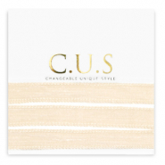 C.U.S jewellery ribbon Shimmery Beige Peach