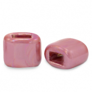 C.U.S jewellery sliders DQ greek ceramic 11x12mm Magenta Haze Pink