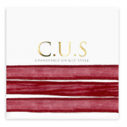 C.U.S jewellery ribbon Ruby Pink
