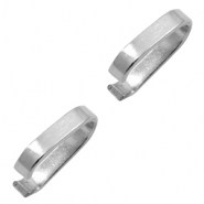 Stainless Steel findings oval jump ring 8x7mm Silver