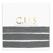 C.U.S jewellery ribbon Shimmery Anthracite Grey