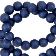 Super Polaris beads round 6 mm matt Deep Blue